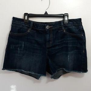 LC Lauren Conrad Distressed Cut Off Denim Shorts